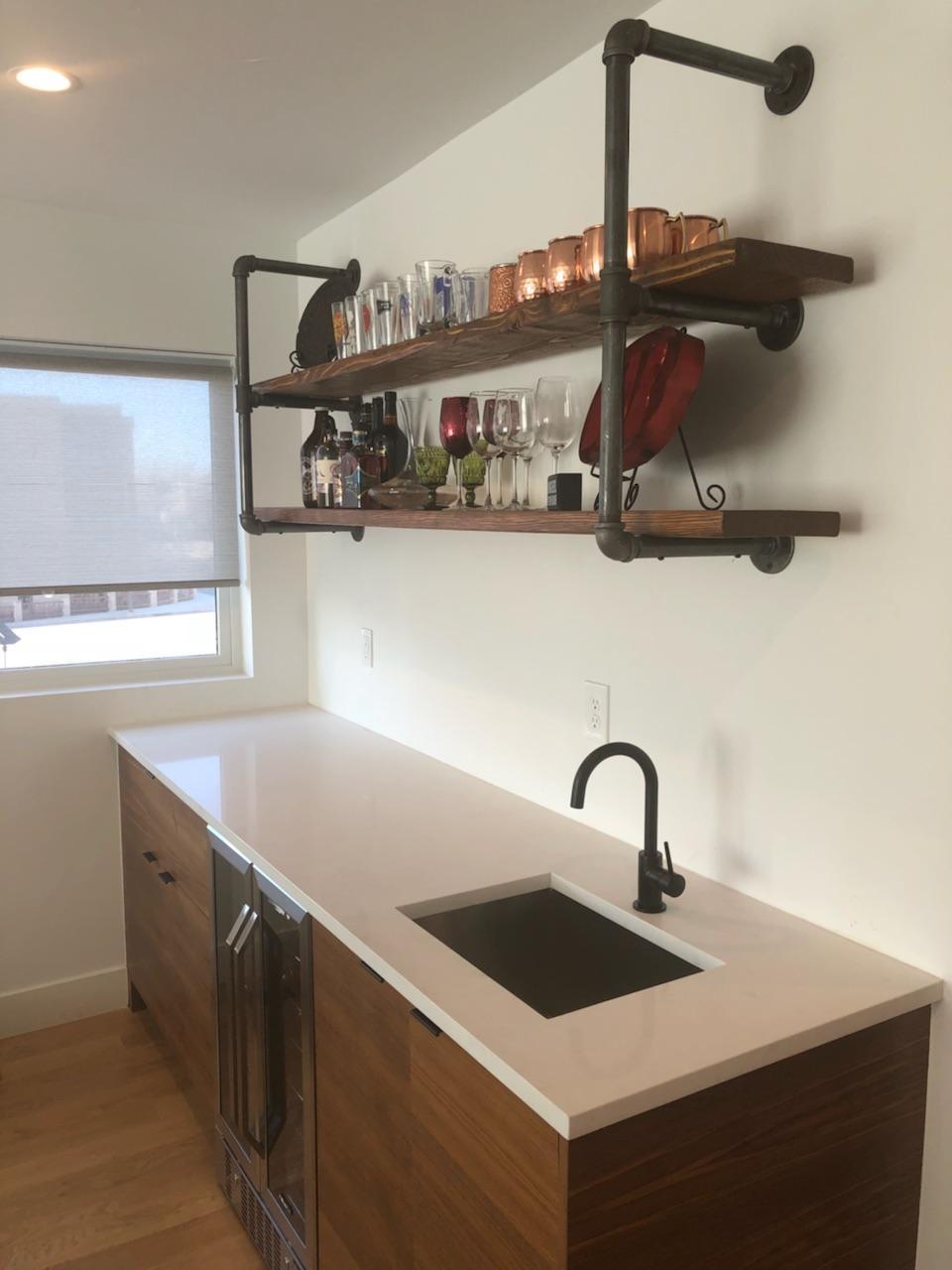 Metal Pipe Shelves