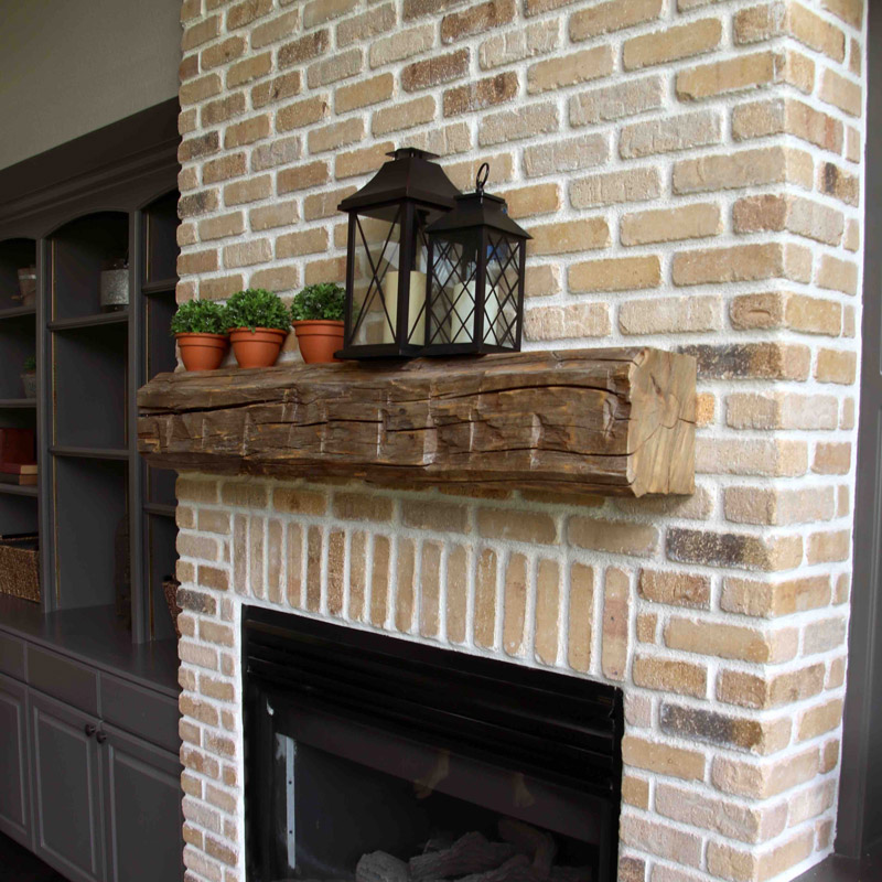 Distressed Rustic Mantle