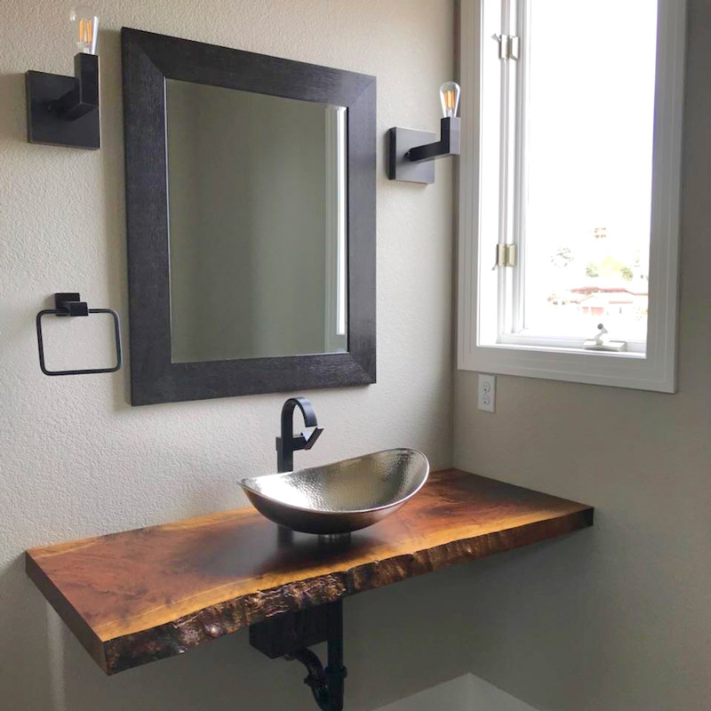 Floating Live Edge Vanity