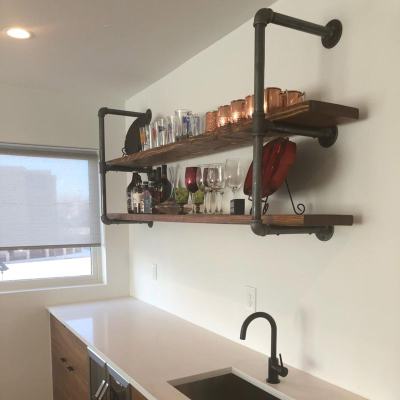 Metal Pipe Shelves