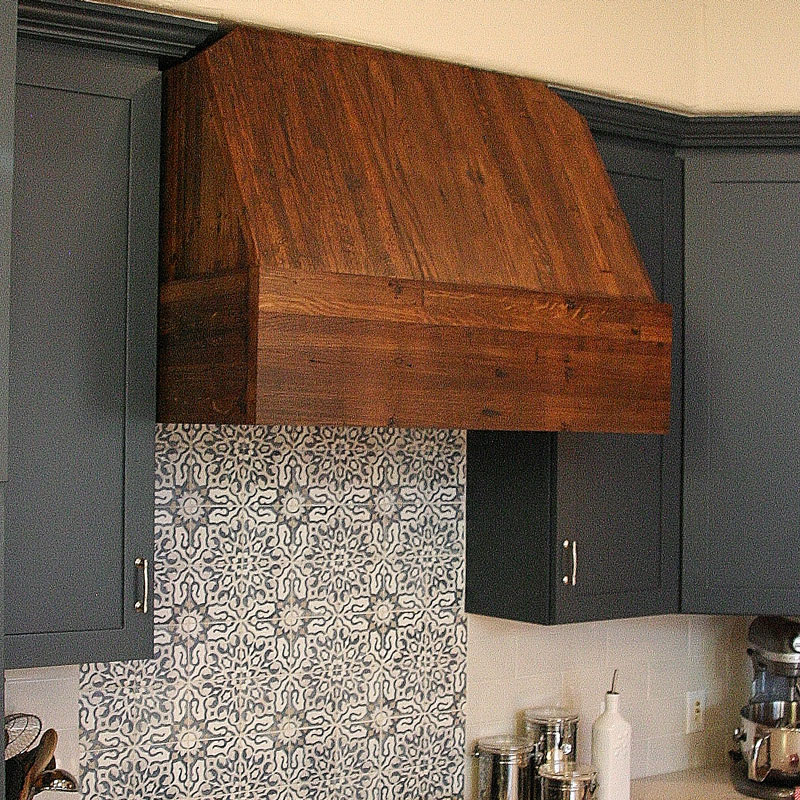 Oven Hood Made from Railcar Flooring