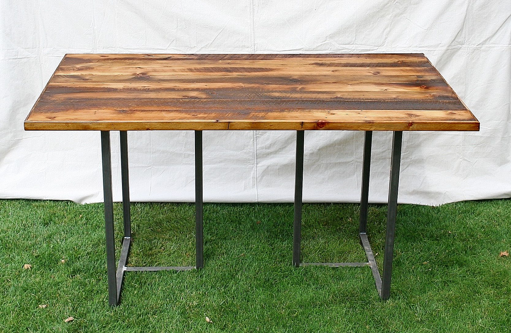 Bar Height Table With Welded T Legs Board Bolt - Welded table base