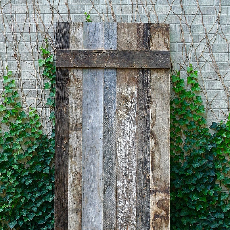 Patchwork Reclaimed Wood Barn Door