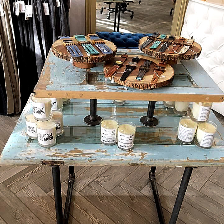 Reclaimed Wood Display Table