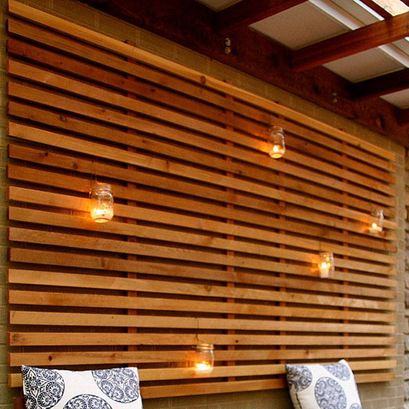 Decorative Cedar Wall Blind