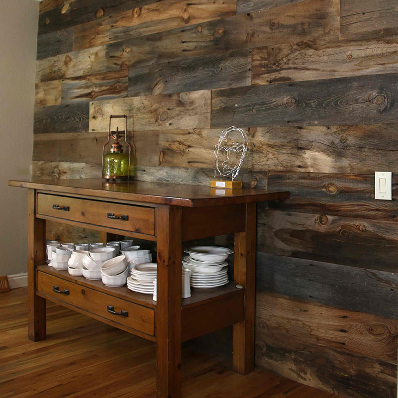 Dining Room Wood Wall