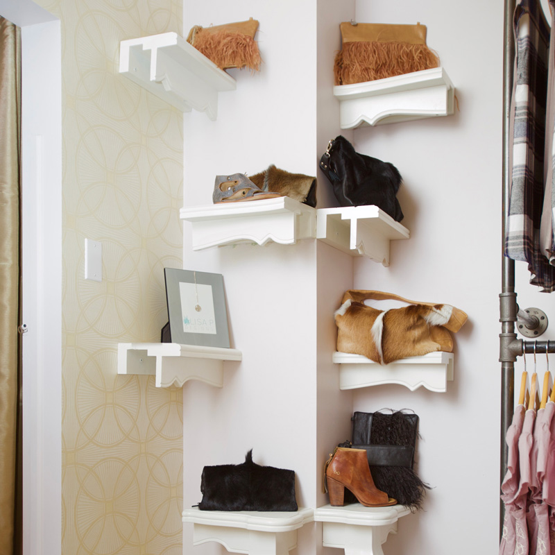 Wall Mounted Shoe Display