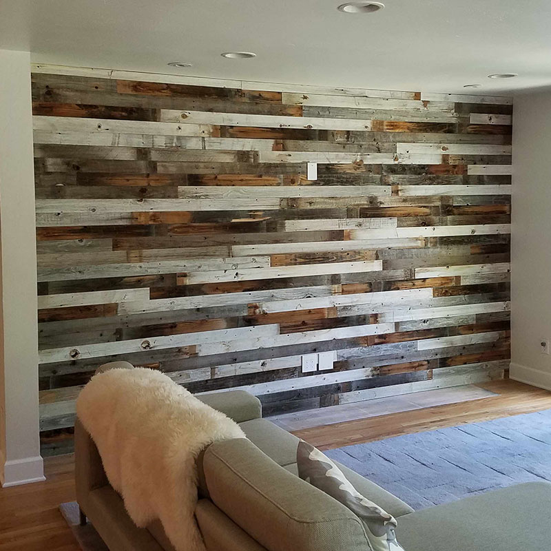 Wood Wall with Light Highlights