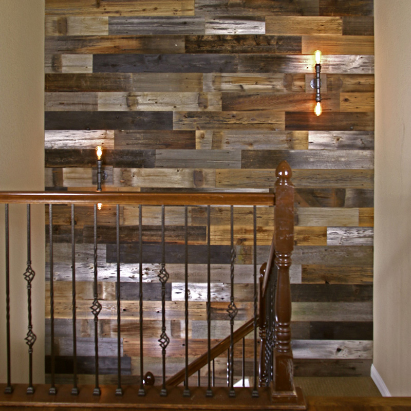 Calico Wood Wall