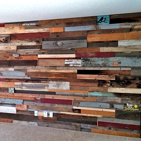 Painted Wood Wall